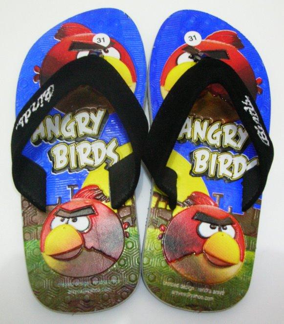 Sandal Anak Angry Bird Biru | Rahma Shop